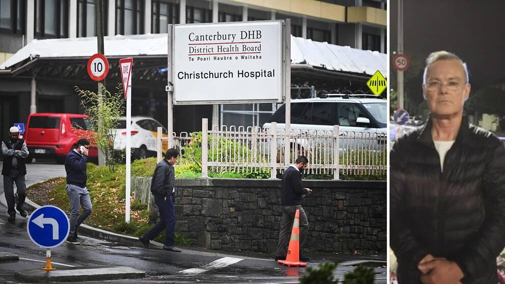 SVT Nyheters Claes JB Löfgren på plats i Christchurch, Nya Zeeland där många personer fortfarande vårdas på sjukhus efter terrorattacken mot moskéerna