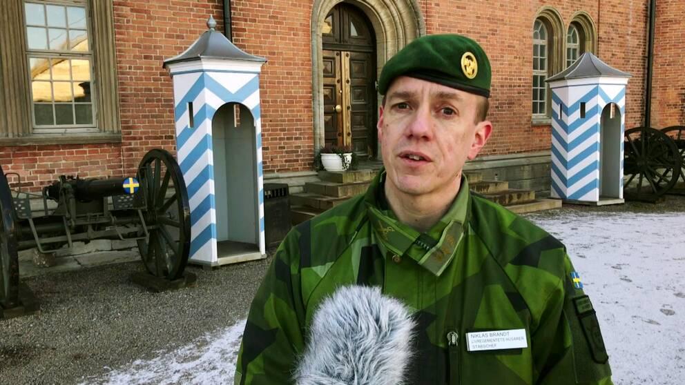 Niklas Brandt, stabschef på K3 i Karlsborg