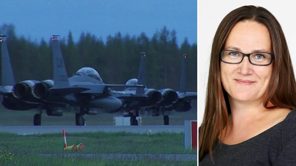 Johanna Holst, Fortifikationsverket och militära flygplan