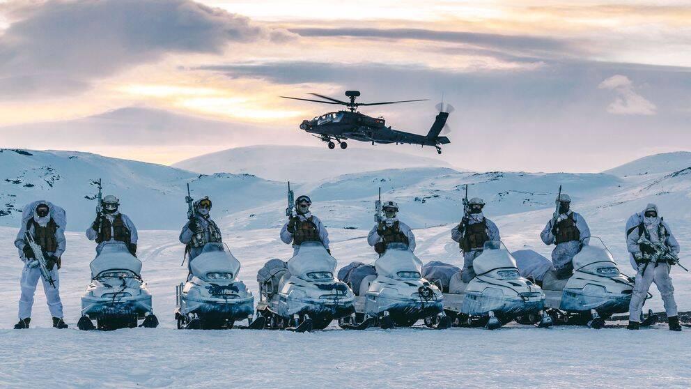 Soldater i norska Brigad Nord i en tidigare övning i Norge.