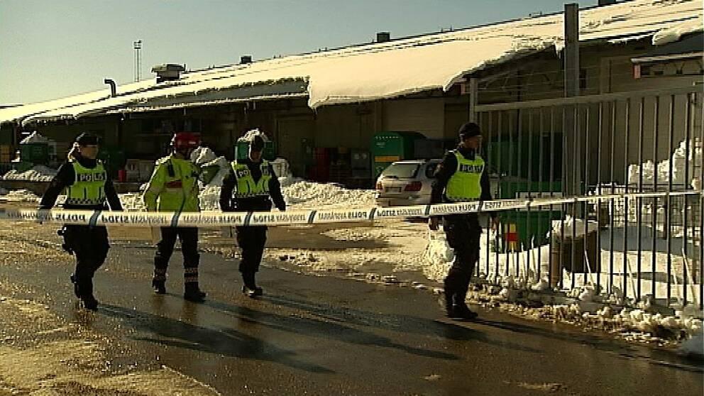 Arbetsplatsolycka på Ragnsells i Söråker.