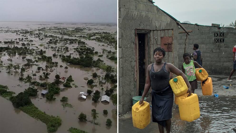Familj återvänder till förstörda hem i Beira