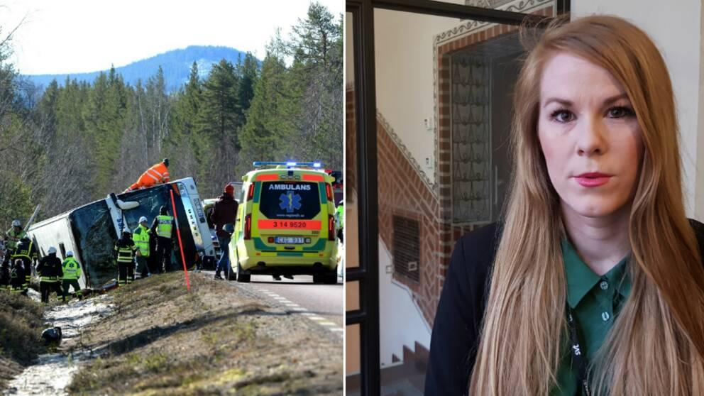Tre ungdomar dog i bussolyckan – nu hörs chauffören i rätten. SVT rapporterar direkt