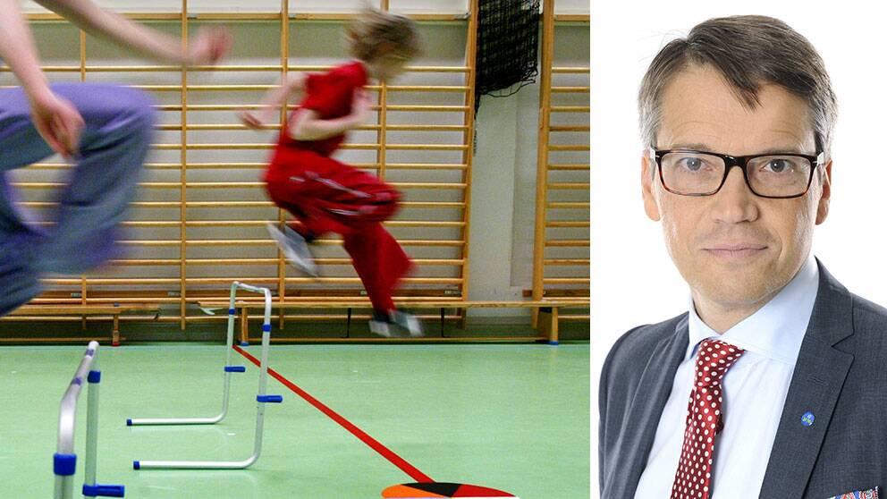 """Göran Hägglund, KD, säger att han var """"lysande"""" på gymnastik i skolan – och han vill gärna se att man har gympa varje dag i skolan."""