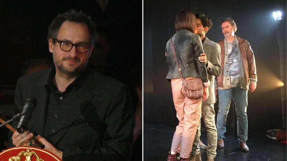 Roland Schimmelpfennig när han 2009 tar emot ett teaterpris.