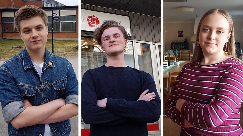 SSU:arna Alexander Tiedermann (Hallsberg), Erik Röjare (Karlskoga) och Liv Olsson (Laxå).