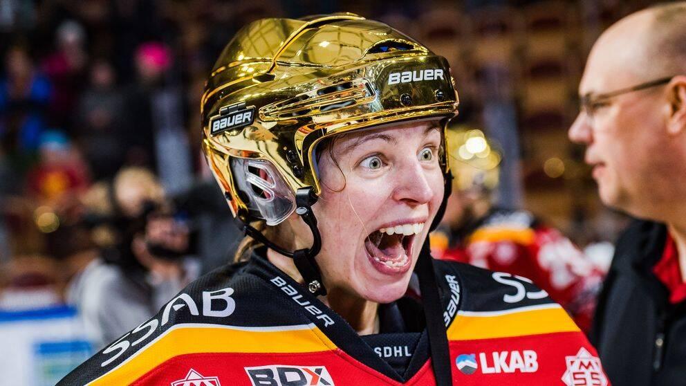 Flytten från Brynäs till Luleå gav utdelning redan första säsongen. Landslagsmålvakten Sara Grahn tog karriärens första SM-guld.