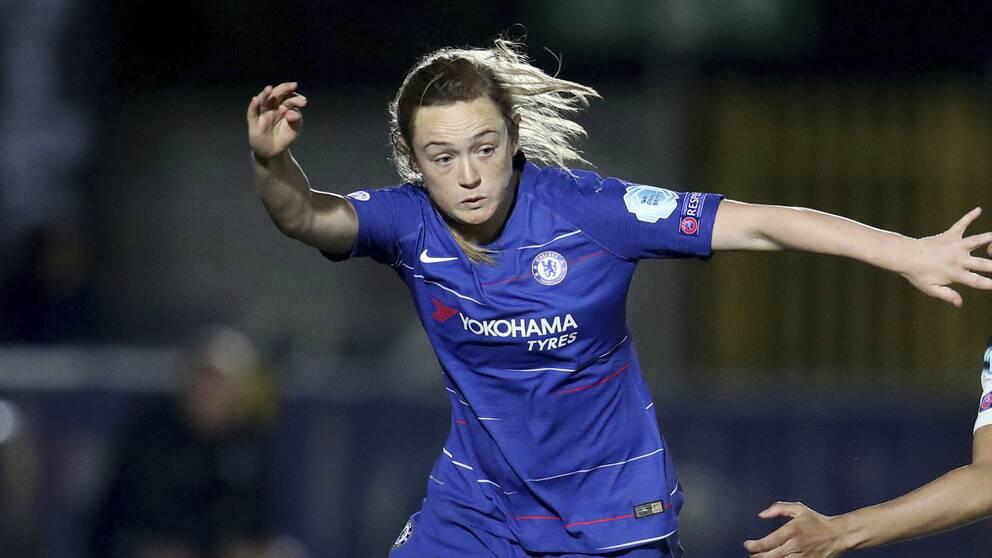 Hannah Blundell gjorde 1-0 för Chelsea mot PSG.