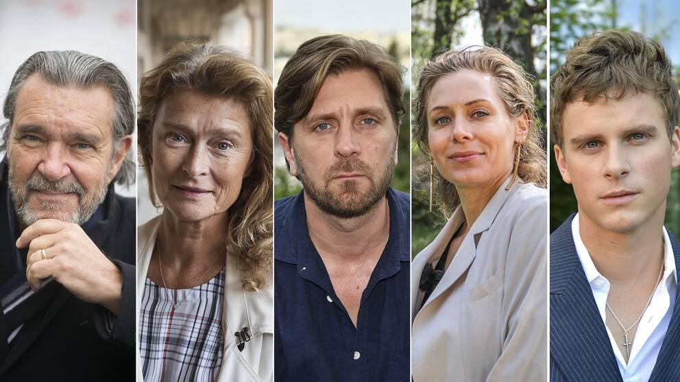 Kjell Bergqvist, Lena Endre, Ruben Östlund, Eva Röse och Adam Pålsson.