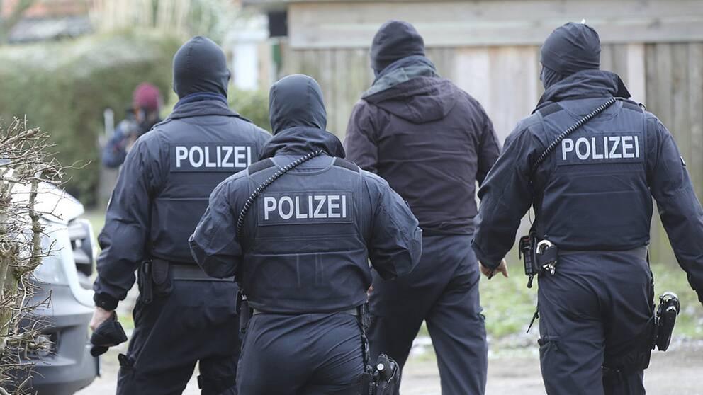Vid en razzia har tysk polis gripit elva personer misstänkta för att ha planerat ett terrordåd. Arkivbild.