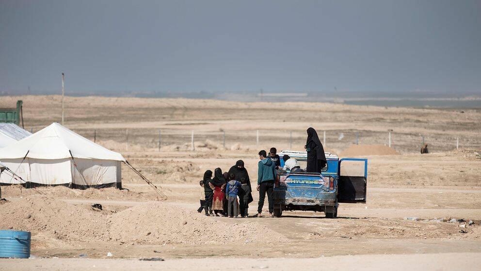 I flyktinglägret al-Hol i Syrien bor omkring 40000 flyktingar.