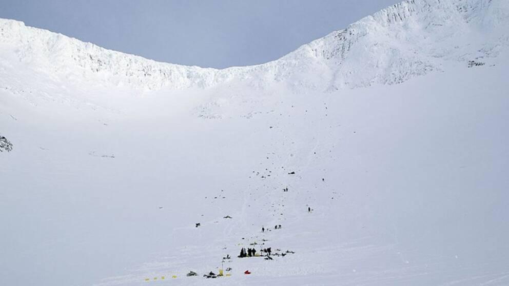 Fem personer omkom vid flygolyckan i Kebnekaise 2012.