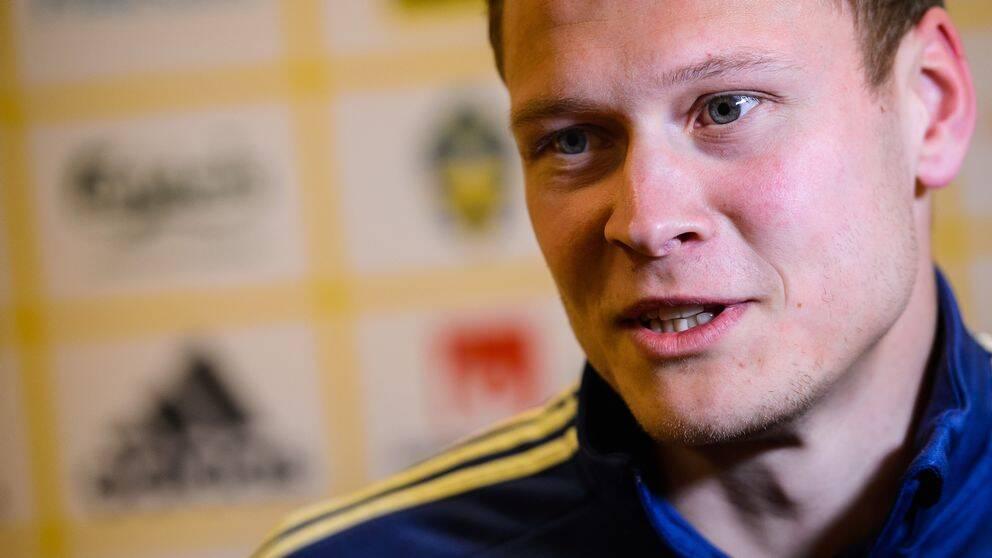 Fotbollslandslagets och Krasnodars Viktor Claesson.