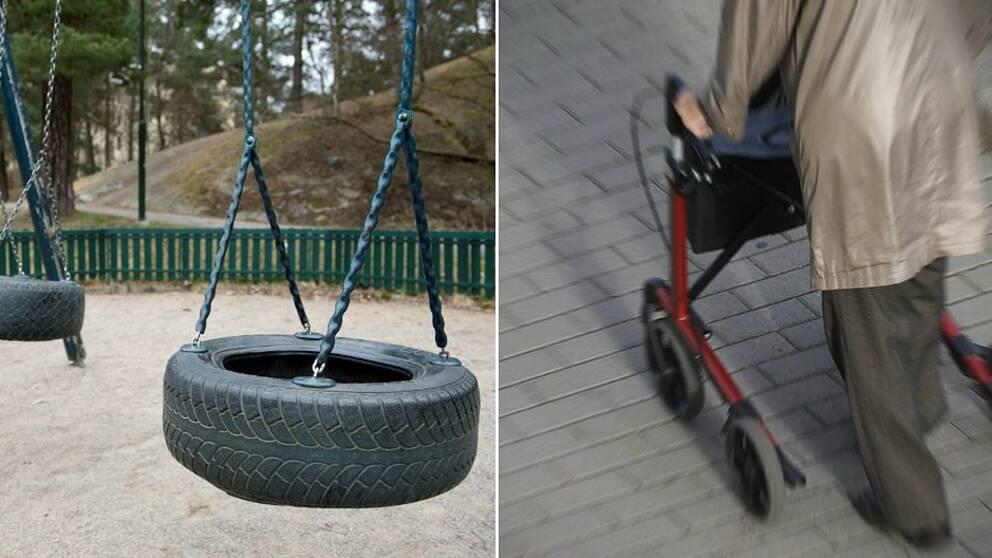 Polisen misstänker att den serietjuv som förföljer och stoppar barn i Göteborg nu också tagit sig in hos äldre.