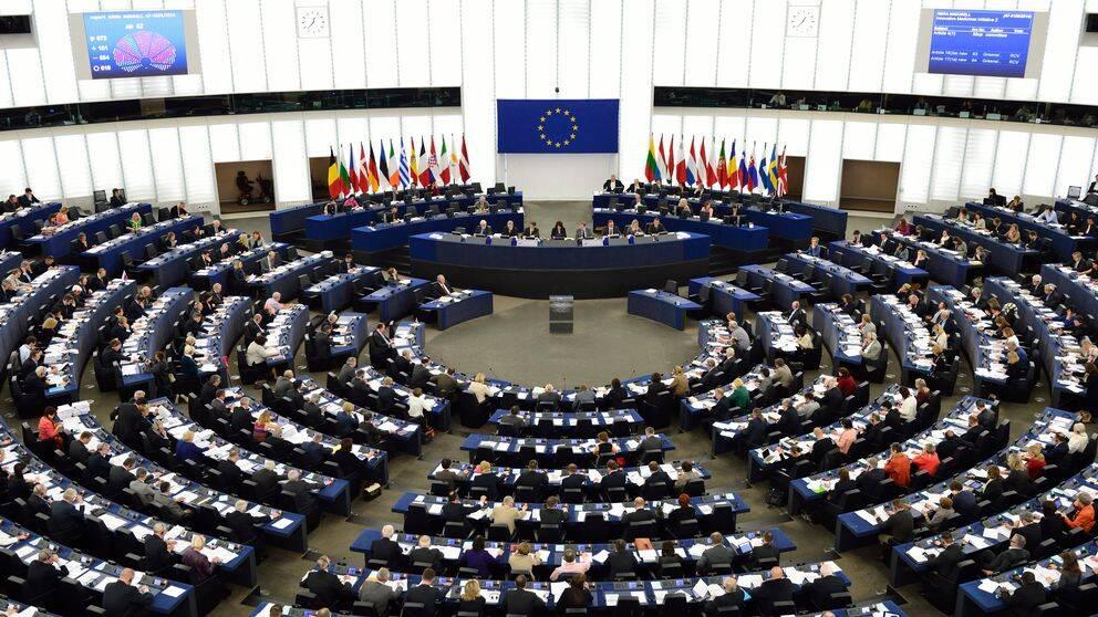 Plenum i EU-parlamentet i Strasbourg