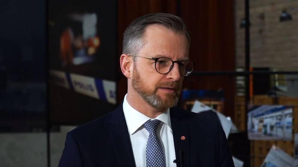Inrikesminister Mikael Damberg i SVT:s Veckans brott.