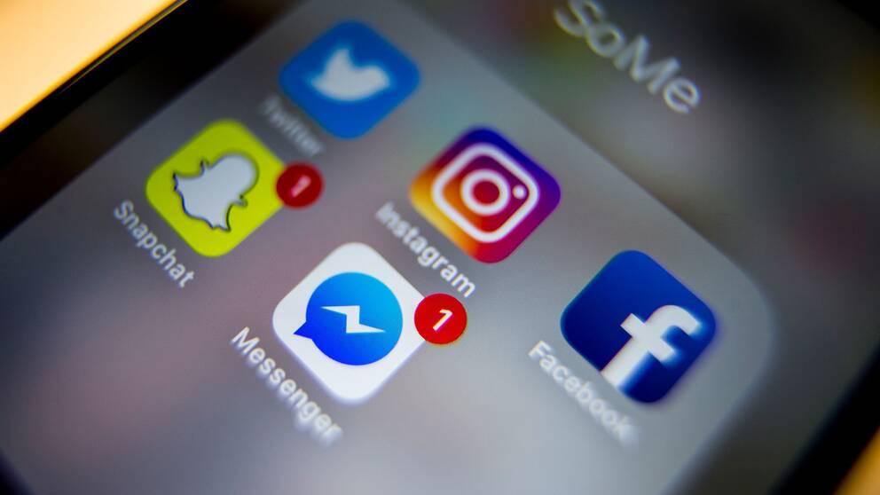 Telefon med sociala medier-appar