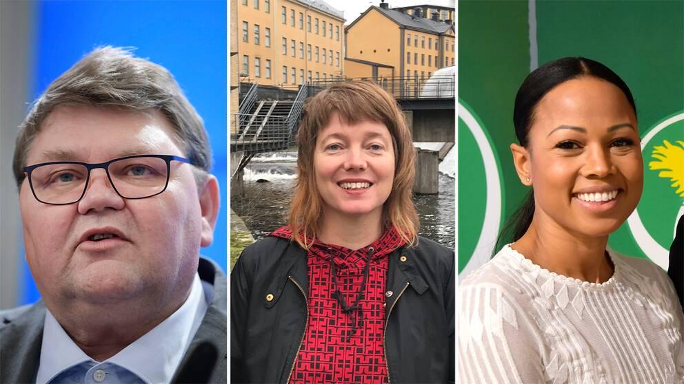 Peter Lundgrens (SD) och Malin Björks (V) partier väntas gå framåt, medan Alice Bah Kuhnkes (MP) väntas tappa. Arkivbild.
