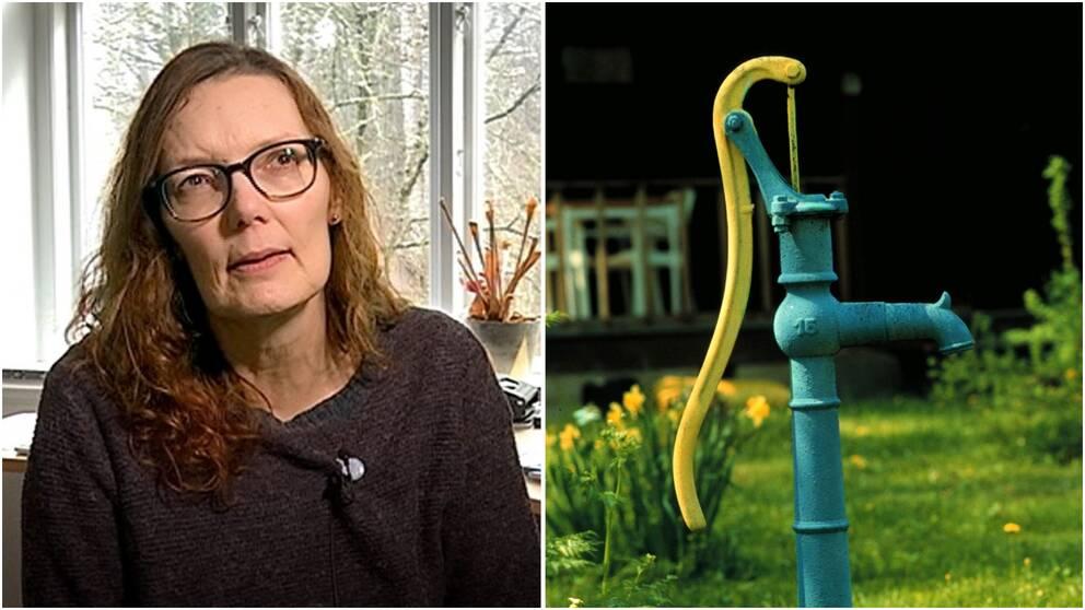 Susanne Pettersson, chef för Region Gotlands VA-avdelning, bevakar noga grundvattennivåerna i dricksvattenkällorna.