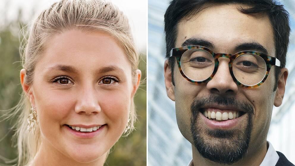 Emma Woxlin och Shahan Lilja är en av de unga svenska företagare som söker kunder på den globala marknaden på Hannovermässan.