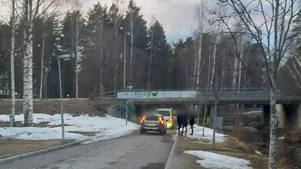 Polispådrag i Sätra.