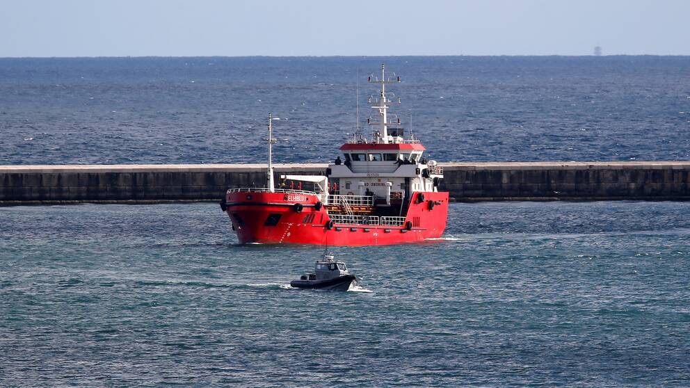 Fartyget når Vallettas hamn.