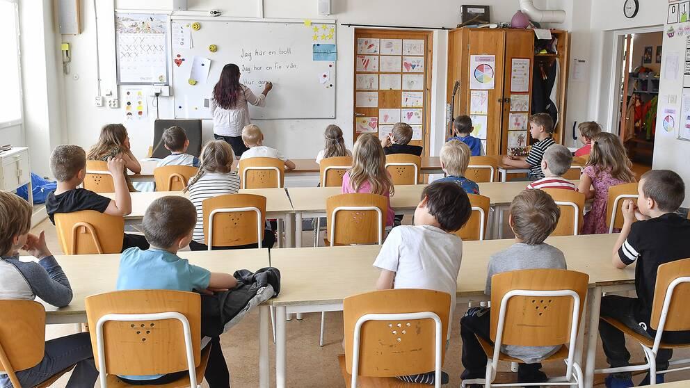 Elever i ett klassrum