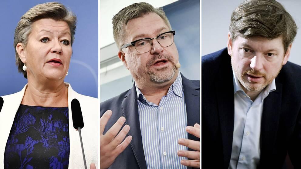 Arbetsmarknadsminister Ylva Johansson (S) säger att Arbetsförmedlingens generaldirektör Mikael Sjöberg fortfarande har förtroende, detta efter beskedet från Martin Ådahl (C) som nu vill se honom utbytt