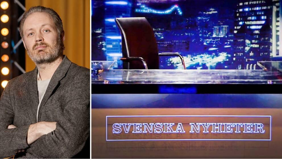 """Nu när både Jesper Rönndahl och Michael Lindgren ska sluta är spekulationerna i full gång kring vad som händer med """"Svenska Nyheter"""" framöver. Lindgren är själv delaktig i att hitta både sin egen och Rönndahls ersättare."""