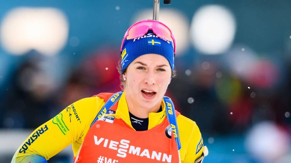 Anna Magnusson tog stafettmedalj för herrar.