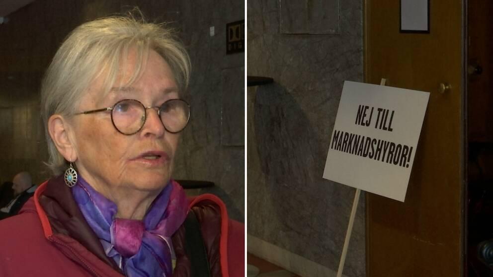 Hör Lena Ask, boende i Biskopsgården, om hennes syn på förslaget.