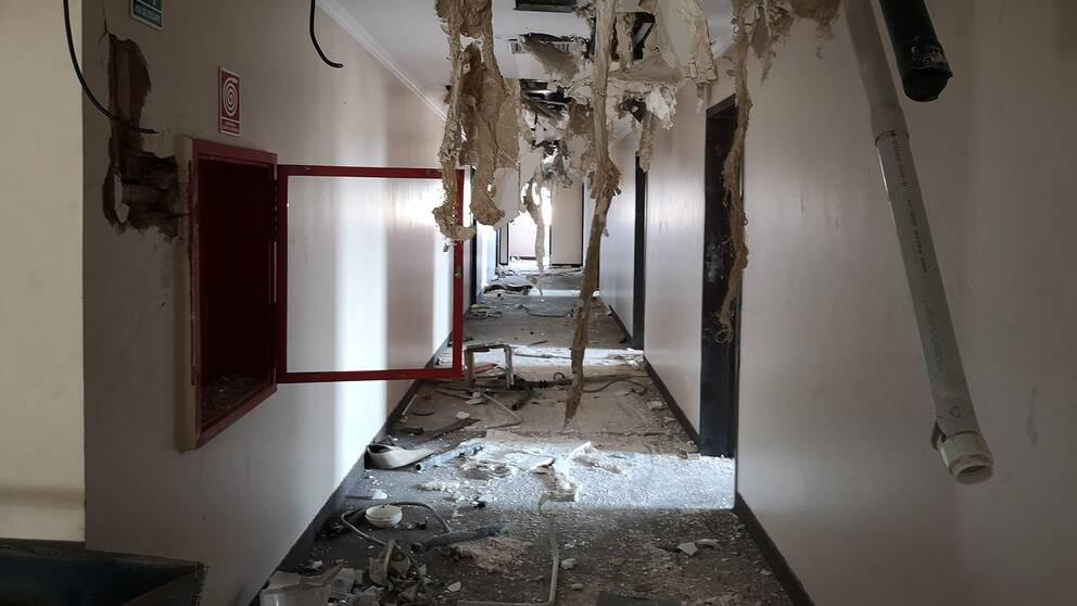 Hotel Brisas del Norte plundrades under flera dagar.