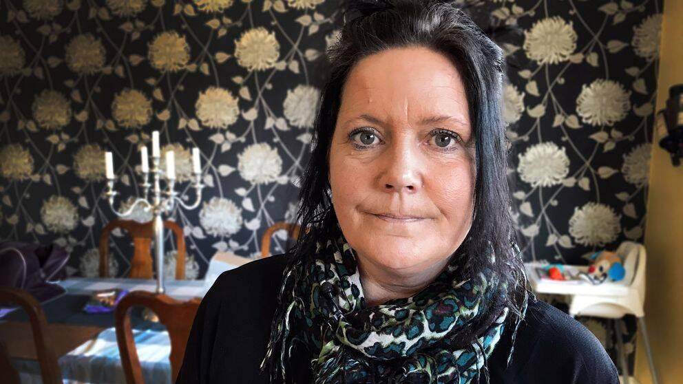 Susanne Karlsson i hemmet i Järna.