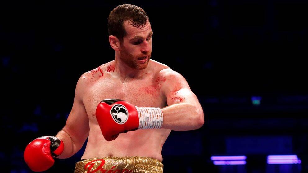 David Price efter bitattacken av motståndaren Kash Ali.