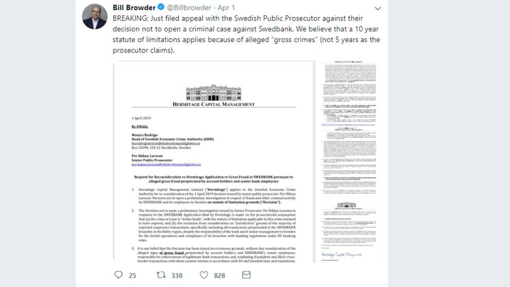 Bill Browders tweet.