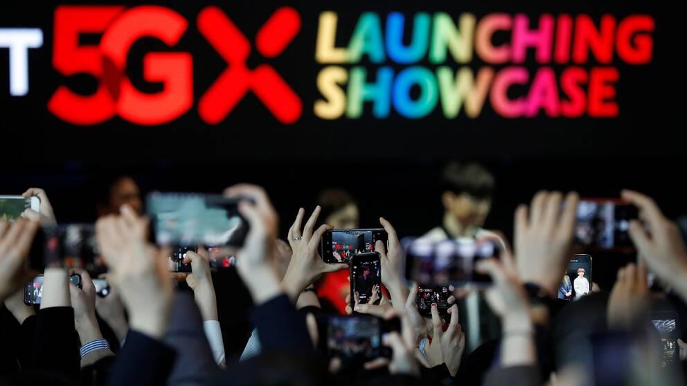 I Seoul, Sydkorea väckte presentationen av 5G-nätet stor uppmärksamhet.