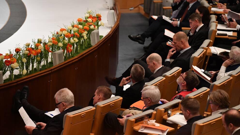 Personer på Swedbanks bolagsstämma den 28 mars