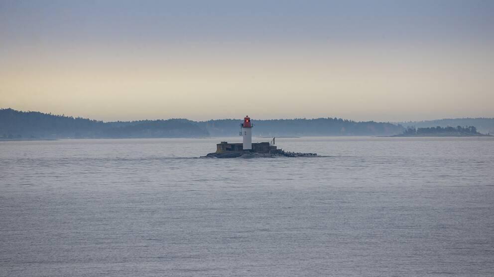 Draghällans fyr i havet utanför Sundsvall