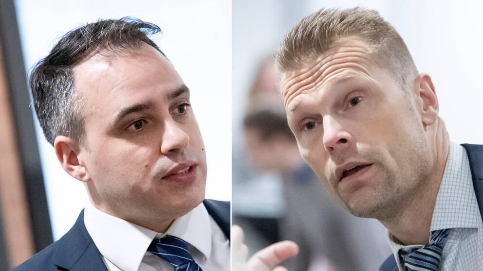 Jägarens försvarsadvokat Jorge Concha och åklagare Ola Lavie