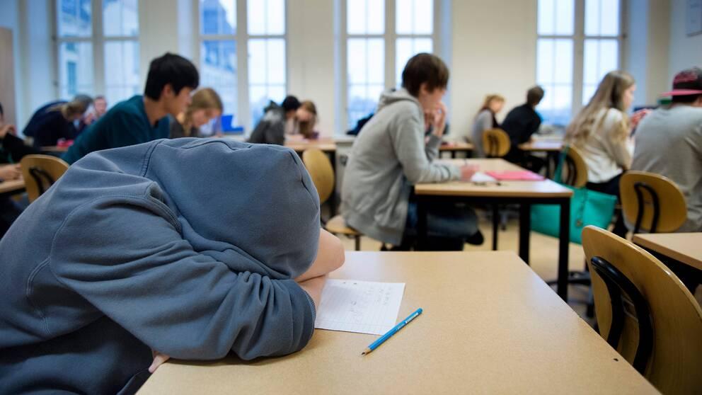 Allt fler elever känner sig otrygga i skolan. Arkivbild.