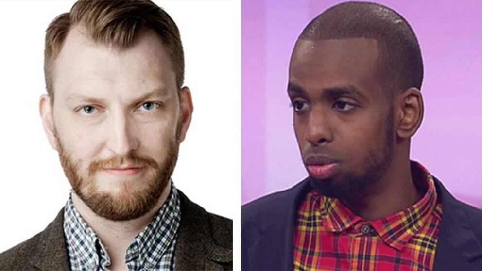 Svenska Unga Muslimers ordförande Rashid Musa (till höger) anser att SvD:s ledarskribent Ivar Arpi (till vänster), befäster islamofobiska föreställningar.