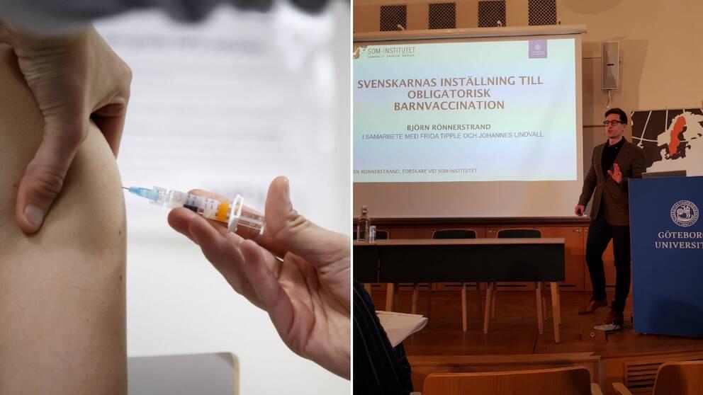 Vaccination, Björn Rönnerstrand forskare vid SOM-institutet