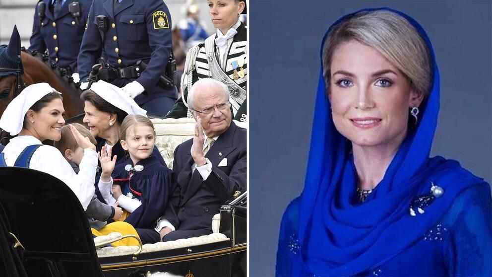 Ingen ur den svenska kungafamiljen kommer vara med vid vigseln där östgötskan Louise Johansson blir prinsessa i Malaysia.