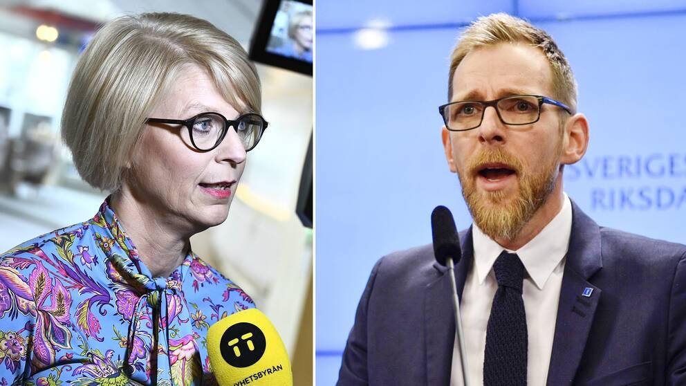 Elisabeth Svantesson (M) och Jakob Forssmed (KD).
