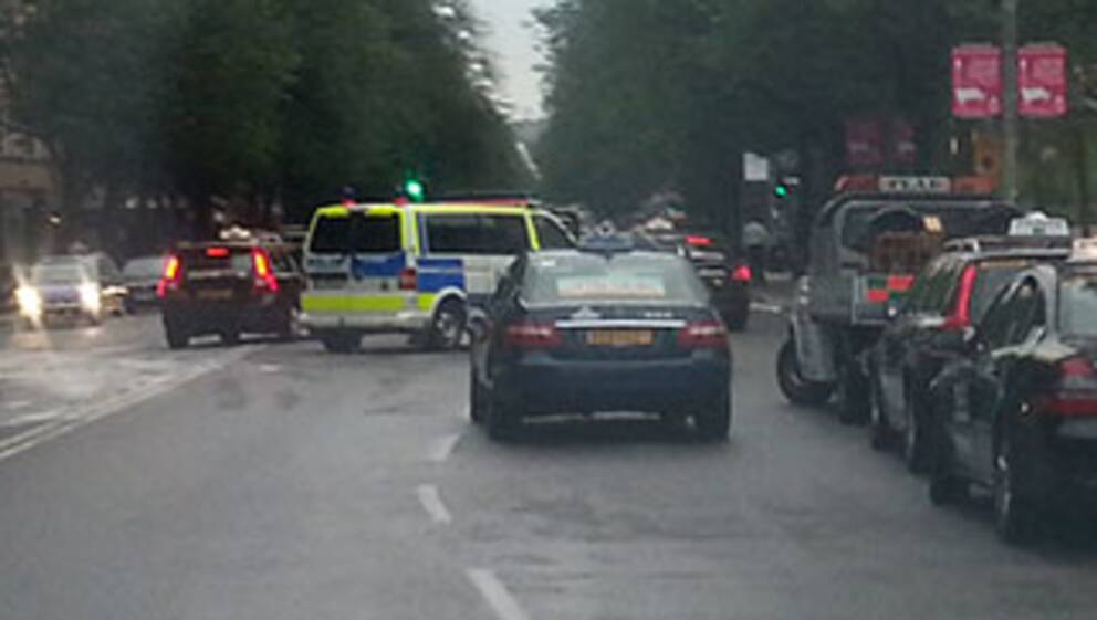 Ambulans krockade i centrala stockholm