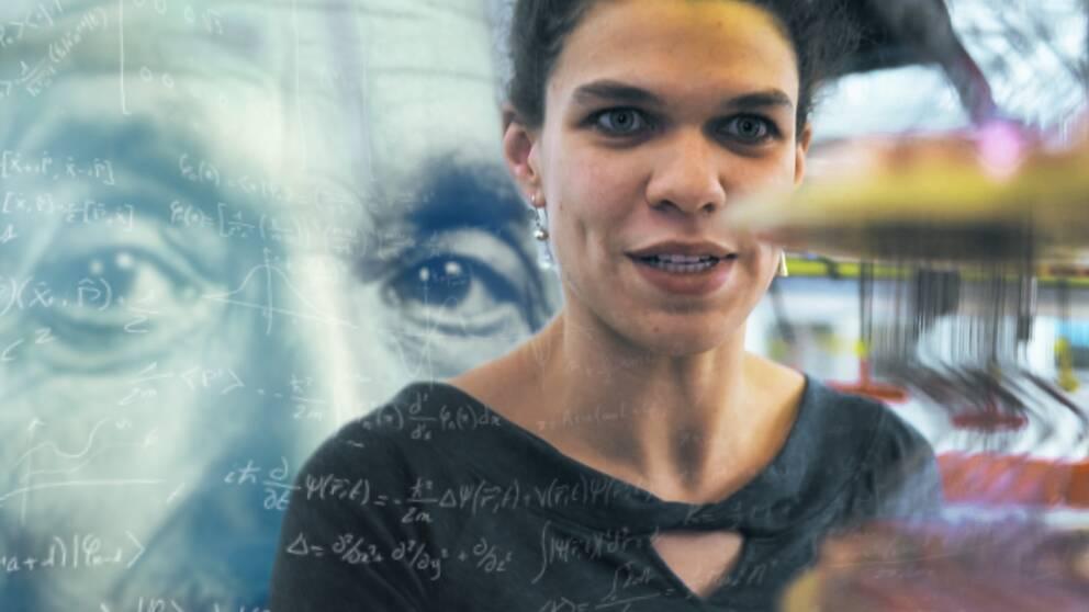 Vid kvantdatorprototypen i labbet: forskaren Marissa Guistina.