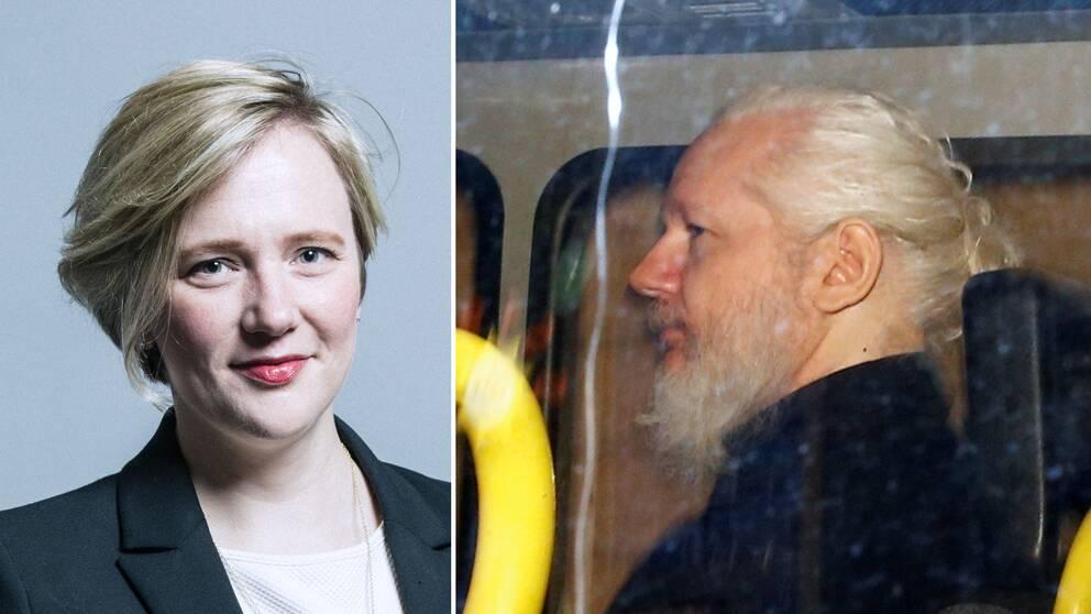 Labour-ledamoten Stella Creacy (t.v) är en av de över 70 brittiska parlamentariker som nu kräver att Julian Assange utlämnas till Sverige.