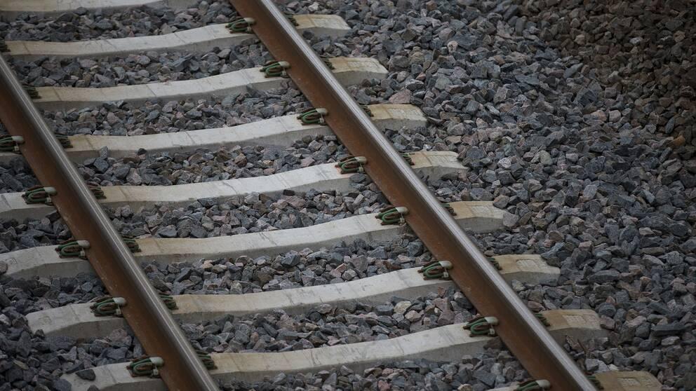 Arkivbild på tågspår