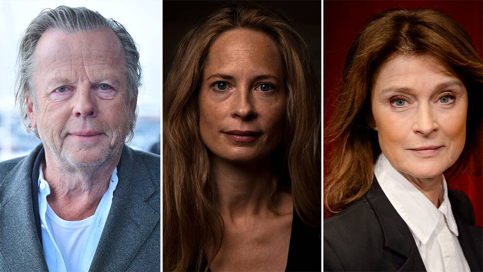 Skådespelarna Krister Henriksson, Maria Bonnevie och Lena Endre.