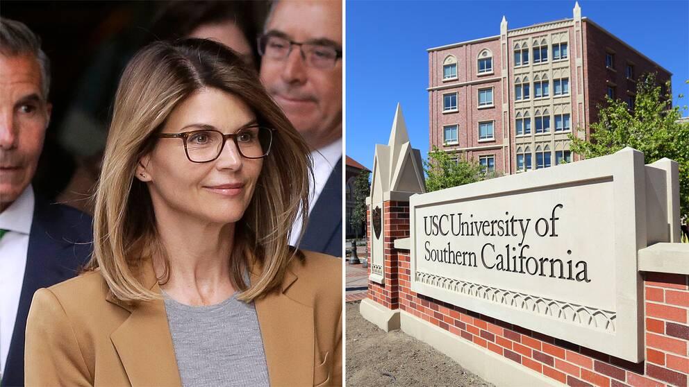 Skådespelerskan Lori Loughlin anklagas för att tillsammans med sin make ha mutat in sina döttrar på University of Southern California.